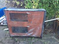 4 foot rabbit /guinea pig hutch with cover