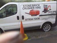 Stone concrete Brick Crusher Mobile