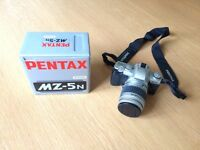 Pentax MZ-5n 35mm SLR camera, with FA 28-90 zoom lens
