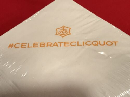 Authentic Veuve Clicquot Signature White Cocktail Napkins **Awesome** VCP RARE