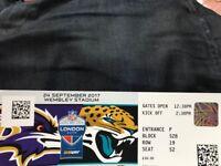 NFL ticket single Jacksonville Jaguars v Baltimore Ravens Wembley pick up