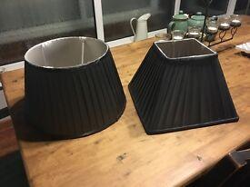 2 beautiful silk lampshades