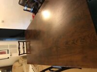 Large Arighi Bianchi Oak dining table 4 chairs and corner cupboard