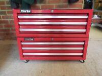 clarke tool box 6 draws with wheels see pics