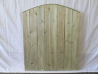 tanalised garden gate for sale 30in wide x 3ft high round top