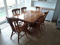 Dining table (extending) and 6 chiars