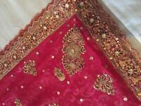 Wedding saree including scarf