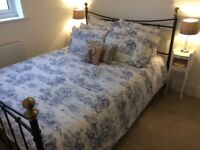 Sold STC - Metal king size bed frame with mattress. Good condition, needs new home - Church Crookham