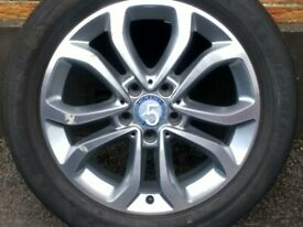 """TWO 17"""" MERCEDES C CLASS SPORT 14-18 W205 ALLOYS 5x112 FULL SIZE SPARES"""