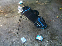 JUNIOR MATCHED SET OF DUNLOP 65 CLUBS + CARRY BAG + 6 NEW GOLF BALLS + BRAND NEW PACK OF TEES