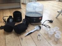 Tommee Tippee Closer to Nature - electric steriliser, bottle warmer, bottle bags, brush and tongs