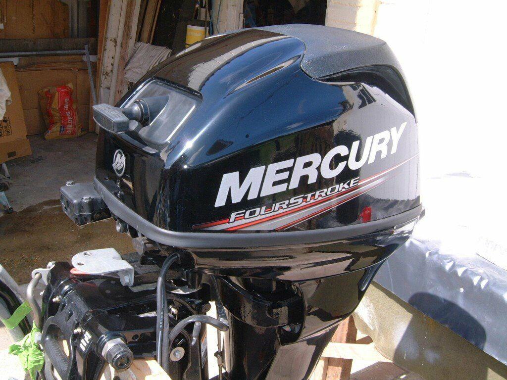 mercury 20hp f/stroke latest model 2015 4 hrs runtime power tilt boat  engine   in Bournemouth, Dorset   Gumtree