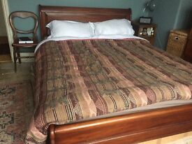 Solid Mahogany King Size Bed Frame