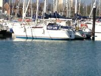 30ft sailing yacht for sale, lying in Gosport Hampshire