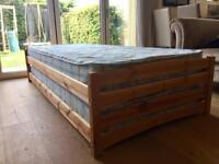 Stacking beds, two single frames and mattresses