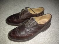 Trickers Bourton, Espresso Burnished, 8.5, soles never walked on!