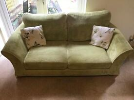 DFS 2 seater fabric sofa