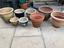 Plant pots outdoor terracotta