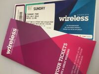 £135 2 x WIRELESS TICKETS FESTIVAL 2018 - Sunday 8th July 2018