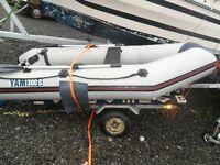 Imacculate boat/rib/tender, Yamaha 300 S, yamaha 4hp 4 stroke and Trailer