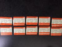 Five return tickets from Coventry (10:21) to Euston (20:25) 11/03/2017