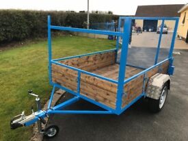 """NEW CAR TRAILER WITH LONG TAIL DOOR 7ft LONG 4ft 6"""" WIDE"""
