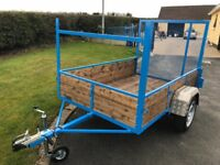 "NEW CAR TRAILER WITH LONG TAIL DOOR 7ft LONG 4ft 6"" WIDE"