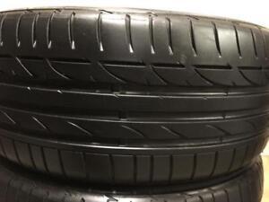 2 pneus 225/40/19 Bridgestone potenza ete runflat 8-9/32