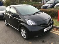 2009 TOYOTA AYGO 1.0 VVT I BLACK 5 DOOR HATCHBACK PETROL MANUAL LONG MOT GREAT DRIVE N IQ 107 C1 KA