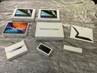 Apple empty boxes MacBook Pro, MacBook Air, iPad Pro, Magic keyboard, Apple Pencil, iPad mini,iPhone