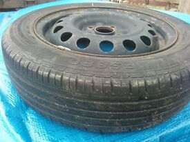 Spare wheel/tyre for citroen C1/Peugeot 107/Toyota Aygo.