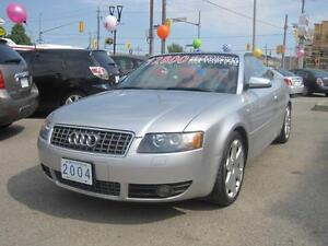 2004 AUDI S4 CABRIO CONVERTIBLE   Red Leather •AWD