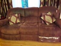 3 seater sofa & 2 x 1 seaters chairs