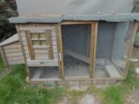 Large Rabbit Hutch /Chicken Coop with Pen