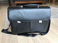 Black leather large briefcase