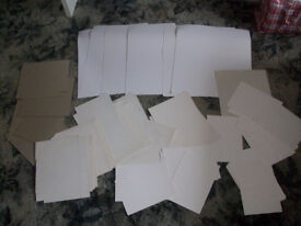 Job Lot of White Cream and Brown Card Ideal for Cardmaking or Craft Use
