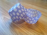 400x (Pack Of 400) Standard Size Cup Cake Liners ¦¦ Purple With Spots Round Case