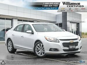 2016 Chevrolet Malibu LTZ**LTHR**BKC UP CAM**SUNROOF**