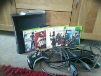 Xbox 360 console , controller and games bundle