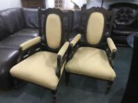 2 vintage chairs with new fabric