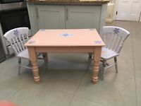 Kids Table and Chairs- Crafted in Wood