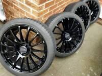 "19"" audi / Mercedes alloy wheels with good year f1 eagle tyres 7mm a4 a5 a6 vw caddy golf Passat"