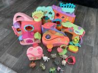 Littlest pet shop bundle/play sets/houses accessories and pets