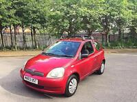 **2003 03 Reg Toyota Yaris Colour Collection 1.0L 3DR Long MOT Roof Rails 100% Brillant Runner**