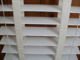 Blinds White - Hillary's Make - Wood Slats - Square Bay Window Blinds -Two 33x174cm - Two 86x174cm