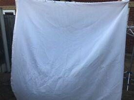 white curtain for bathroom