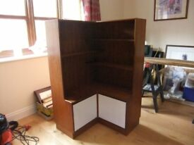 BOOKCASE VINTAGE GPLAN CORNER BOOKCASE , 55 INCHES HIGH, 34INCHES WIDE /DEEP GOOD USED CONDITION £25