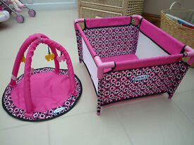 Graco Toy Twin Buggy, travel cot and activity mat