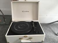 crosley white vinyl record player