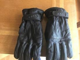 Vespa leather motorcycle gloves